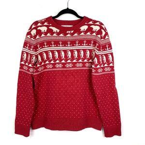H&M L.O.G.G. Christmas Sweater Polar Bear Penguin